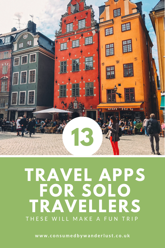 Free travel apps for solo travellers